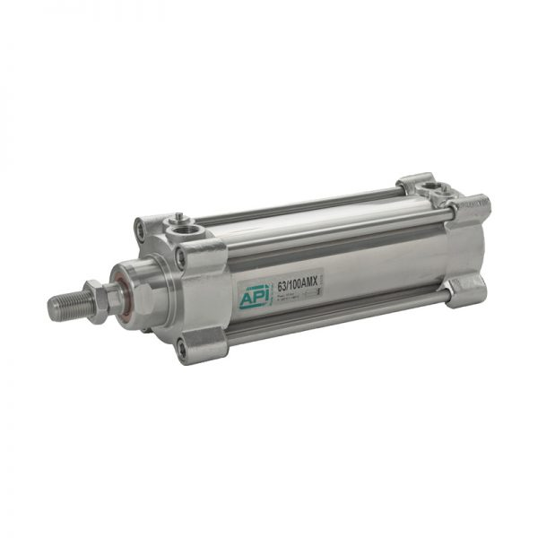 AMX series double acting stainless steel pneumatic cylinders from API UK